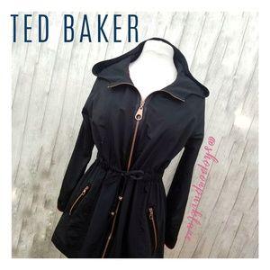 Ted Baker London Black Naaomi Swing Coat, Medium